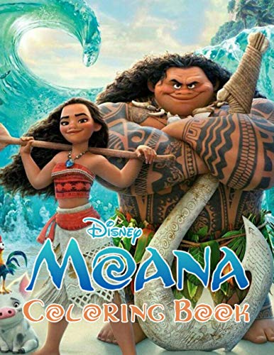 Moana Coloring Book: Super Coloring Book for Kids and Fans – 50+ GIANT Great Pages with Premium Quality Images