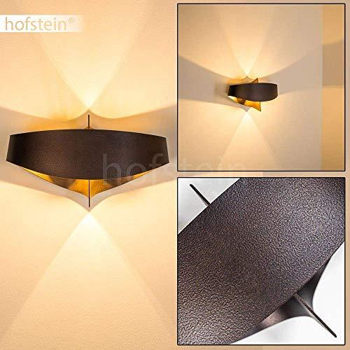 Applique da Parete Interni design moderno- Lampada da parete in Metallo color Marrone- Luce diffusa adatta come Applique Salotto