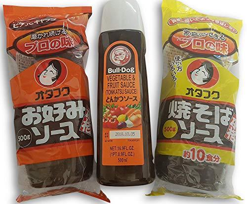 Okonomi Sauce, Yakisoba Soße, Tonkatsu Sauce Zutaten für Okonomiyaki, Grundzutaten Yakisoba, Hiyayakko, Takoyaki