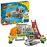 LEGO 75546 Minions El Origen de GRU, Minions en el Laboratorio de GRU, Juguete de Construcción para Niños +4 años con Mini Figuras