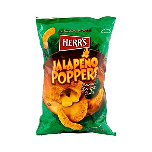 Herr's Jalapeno Popper Cheese Curls - 8 Oz. (3 Bags)