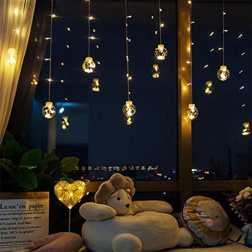 Emoshayoga Wishing Ball LED String Lights Luci Stringate per Tende Aggiornate, 8 modalità Luci a Sfera di Cristallo Impermeabili Luci da Patio per Veranda, Gazebo, Bistrot(Bianco Caldo)