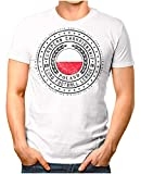 OM3® - Poland - Herren T-Shirt Polen Wappen Fußball Trikot EM'16 WM Championship Vintage Weiß XL