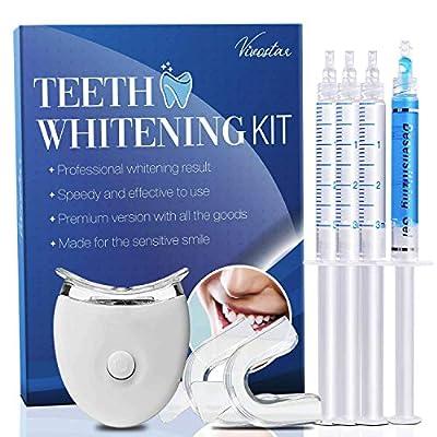 Vivostar Teeth Whitening Kit, (3)3ml Whitening Gel, (1)3ml Desensitizing Gel,Premium Quality,Made for the sensitive smile