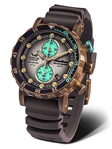 Vostok Europe VK61-571O613 Relojes de Cuarzo Cronógrafos Relojes de Buceo