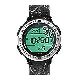 10 ATM Impermeable Reloj de Pulsera Deportivo Podómetro para Hombres Niños Reloj Buceo con Función de Cronómetro de Vuelta y Reloj Despertador, Formato de 12/24 Horas Seleccionable