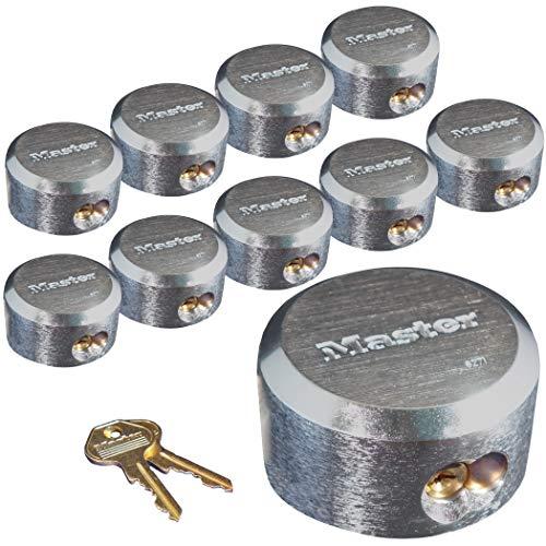 Master Lock 6271KA 10 Pack - 2-7/8in. ProSeries Reinforced Hidden Shackle Rekeyable Pin Tumbler Keyed Alike Padlock, Chrome