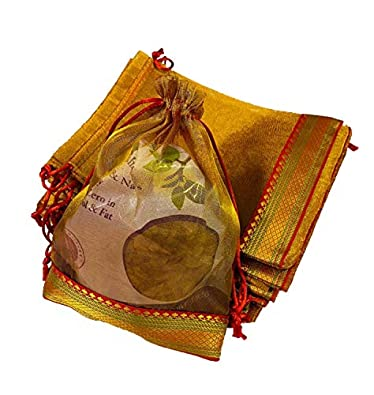 Moira Unisex Gift Potli Bags Silk Brocade (23 cm X 18 cm)