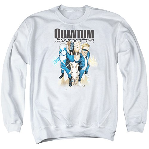Quantum And Woody - - Pull pour hommes, Large, White