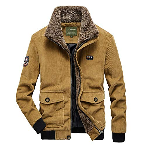 Los hombres de la chaqueta de pana caliente de algodón abrigo de invierno masculino más terciopelo grueso de gran tamaño casual suelto hombres ropa vintage