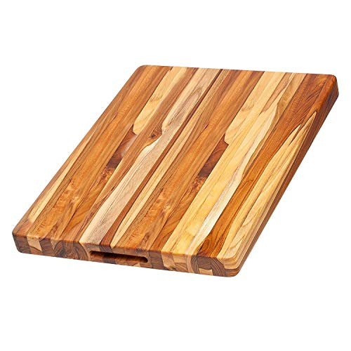 TeakHaus by Proteak Edge Grain Carving Board w/Hand Grip (Rectangle) | 20' x 15' x 1.5'