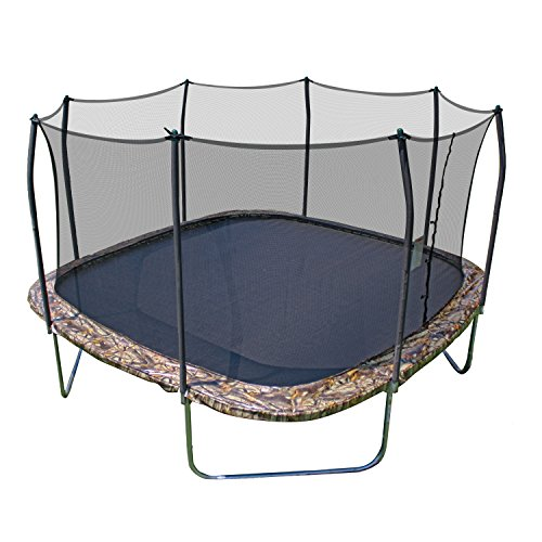 Image of Skywalker Trampolines 14' Square Trampoline with Enclosure - Camo