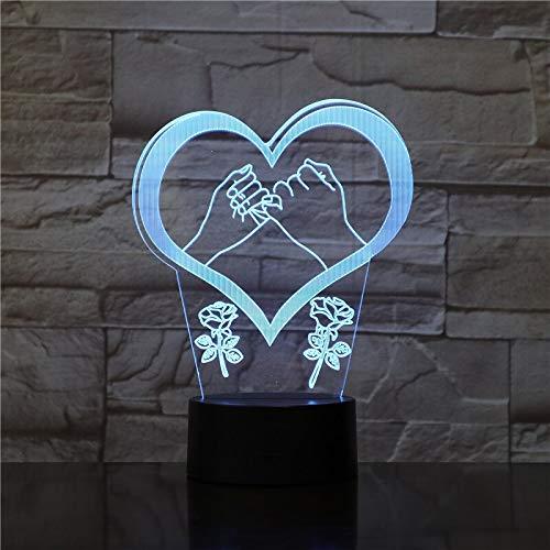 jiushixw 3D acryl nachtlampje met afstandsbediening van kleur veranderende lamp liefde hand visueel geschenk installatie fiets outdoor tafel olie lamp eeuw