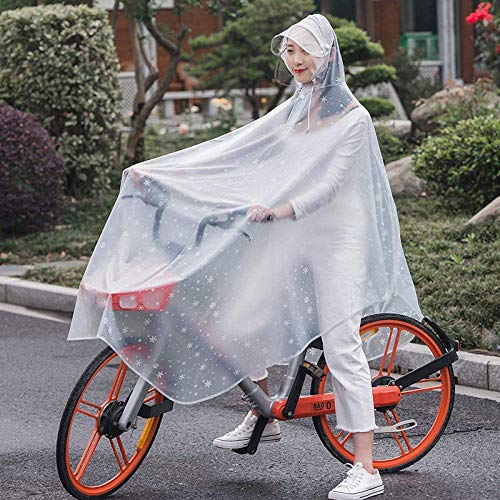 GLJY Wasserdichter Regenmantel Poncho Batterie Elektroauto Mode transparent transparente siamesische PVC Erwachsenen Motorrad Fahrrad Poncho Fahrrad Kristall,A,XXXL