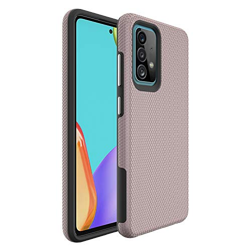 Compatible with Samsung Galaxy A52 Case Ultra-Slim, Lightweight and Wireless with Soft-Textured Bumper Matte Hard PC Back Silicone Thin Non-Slip Surface for Grip Cases for Samsung A52 (Rose Gold)