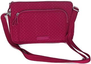 Vera Bradley Iconic RFID Little Hipster Women's Shoulder Bag, Pink, 22120