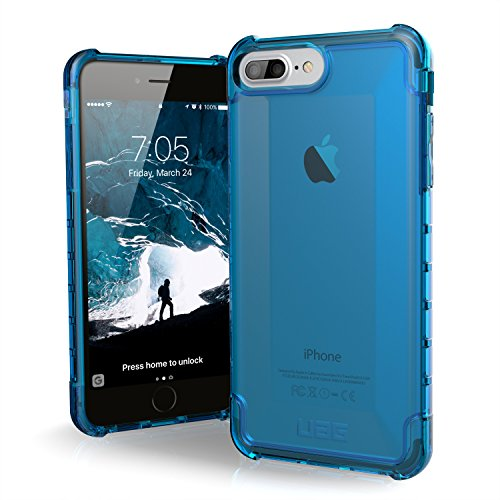 URBAN ARMOR GEAR iPhone 8 Plus/iPhone 7 Plus/iPhone 6s Plus [5.5-inch Screen] Plyo Feather-Light Rugged [Glacier] Military Drop Tested iPhone Case, Plyo - Glacier