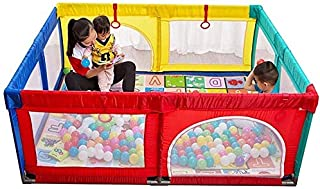 Teppichks Playpen Extra Large Baby With Mat  Toddler Portable Playard Children s Game Fence