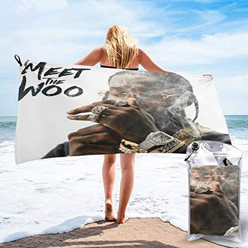 XCNGG PopSmoke Beach Towels Gym Towels Luxury Quick Dry Bath Towel for Hotel SPA Gym Bathroom...