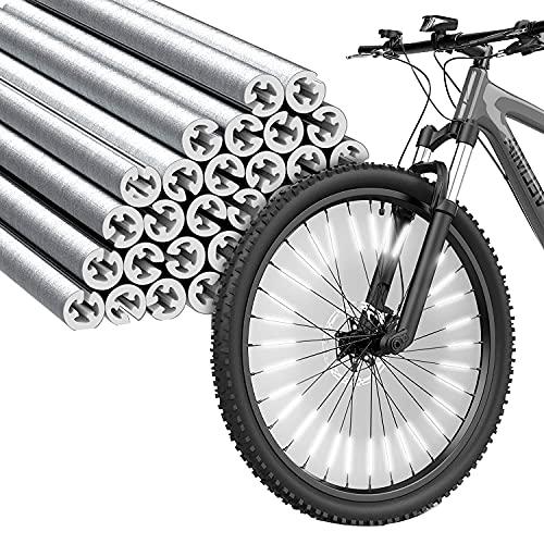 Fahrrad Speichenreflektoren Set , 360°Fahrrad Reflektor Sichtbarkeit einfache Montage passend für alle gängigen Speichenräder- StVZO zugelassen Speichen Reflektor (36er Pack)