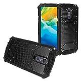 Z-GEN - Compatible with LG Stylo 4 (2018), Stylo4+ Plus, LM-Q710, LM-L713DL - Aluminum Metal Hybrid Phone Case - ZY0 Black