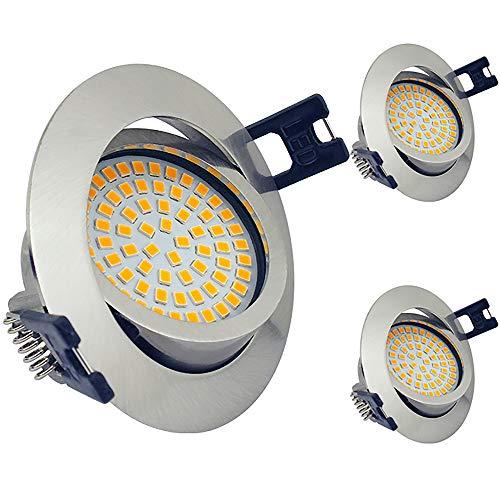 Foco Empotrable Led Techo IP44 para baño, Luz de Techo Estancos 5W...