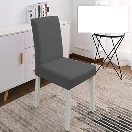 NIKIMI Fundas para sillas elásticas Fundas elásticas de Spandex Fundas Antideslizantes para sillas de Comedor para Cocina Banquete de Bodas