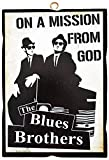 KUSTOM ART Cuadro de estilo vintage The Blues Brothers de colección, impresión sobre madera