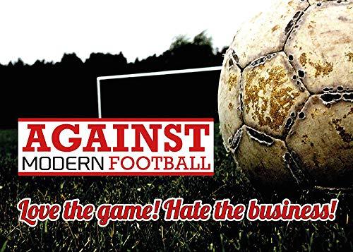 Aufkleber/Sticker - Against Modern Football, Love The Game, Hate The Business (Sticker-Set 10 Stück)