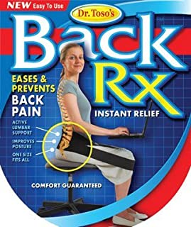 Nada Chair Dr. Toso's BackRX Portable Back Support Belt for Posture Improvement - One Size Fits All