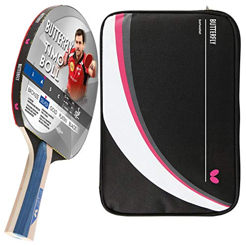 Butterfly Timo Boll Silver Drive Case 2 - Juego de raquetas de ping pong y funda