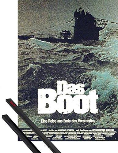 1art1 Das Boot Poster (84x59 cm) Jürgen Prochnow, Herbert Grönemeyer Inklusive EIN Paar Posterleisten, Schwarz
