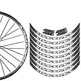Pegatinas de bicicleta Conjunto de ruedas de montaña Pegatinas MTB Bike Rim Calcomanías Pegatinas de bicicleta Decal Accesorio Pegatinas (Color : 27.5 custom color)