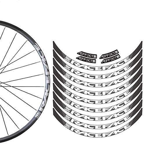 Pegatinas de bicicleta Montaña Rueda Set Pegatinas MTB Bike Rim Decal Pegatinas Decoración de etiquetas (Color: 29 Color personalizado)