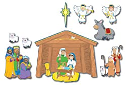 Christian Nativity Bulletin Board Set