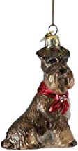 Kurt-Adler Glass Ornament with S-Hook and Gift Box, Dog Collection (Schnauzer, NB0900SC)