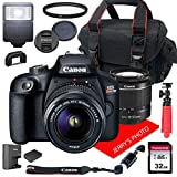 Canon EOS Rebel T100 DSLR Camera w/Canon EF-S 18-55mm F/3.5-5.6 III Zoom Lens +...