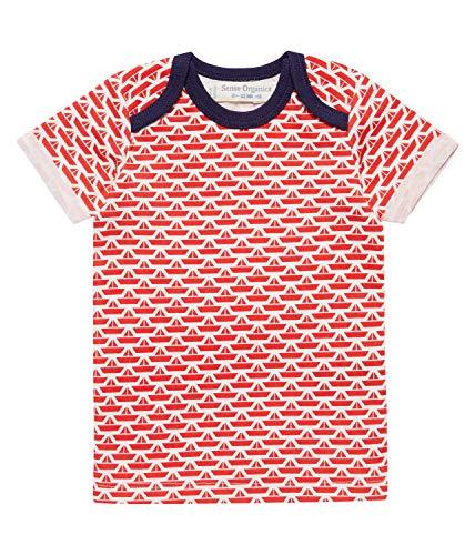 Sense Organics Origami Boats T-shirt à manches courtes pour bébé - Bleu - 9 mois