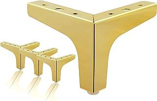 Pumpumly Patas de muebles de 10 cm, juego de 4 patas de metal moderno triángulo para sofá, piezas de repuesto para armario...