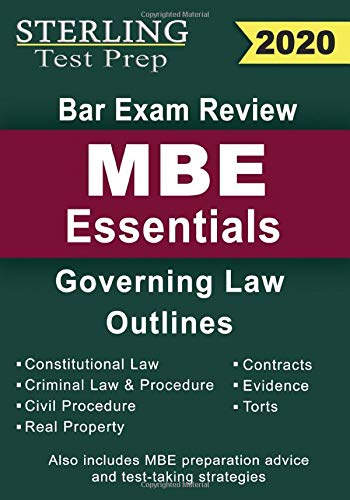 Sterling Test Prep Bar Exam Review MBE Essentials: Governing Law Outlines
