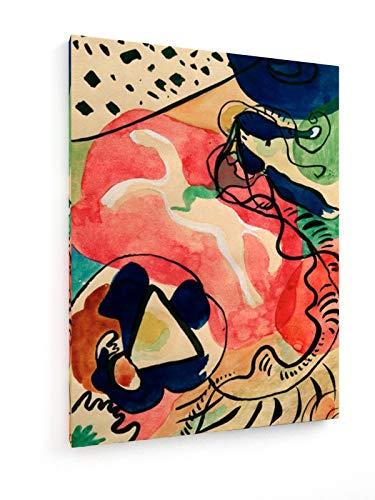 weewado Wassily Kandinsky - El Jinete Azul - Diseño del título 75x100 cm Impresion en Lienzo - Muro de Arte - Canvas, Cuadro, Poster - Old Masters/Museum