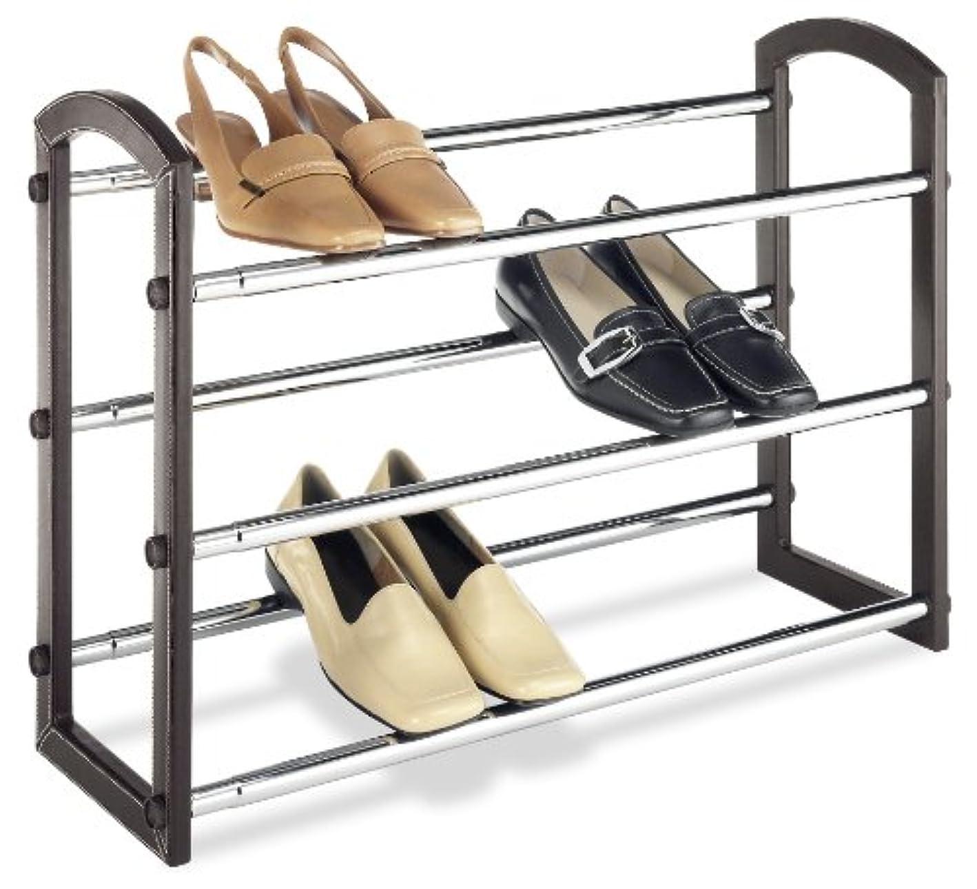 Whitmor Faux Leather Shoe Rack 3-Tier