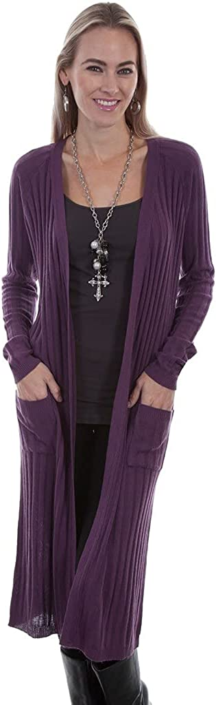 Las Vegas Mall Scully Western Cardigan Womens L S F0_H Pockets Length Iris Maxi A surprise price is realized