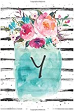 Cute Flowers Monogram Letter Y Notebook: Cute Monogram Letter Y Lined Journal With Flowers Cover Notebook 120 Pages Soft And Matte Cover 6x9 Inch