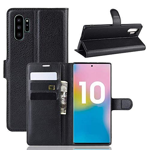 "Capa Capinha Carteira 360 Para Samsung Galaxy Note 10 Plus Tela De 6.8"" Polegadas Case Couro Flip Wallet - Danet (Preto)"