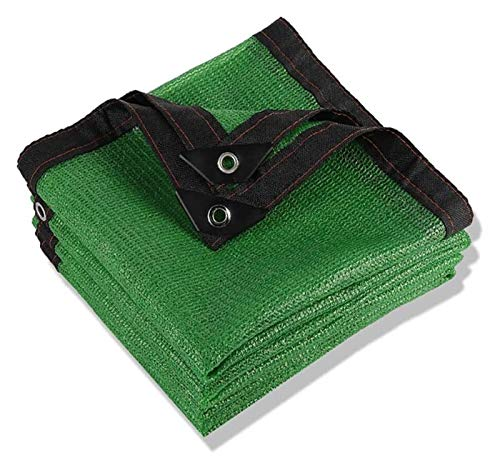 80% Shading Greenhouse, Garden nets with eyelets sunscreen network privacy shade fabric Uv Sunscreen for Terrace Garden Balcony tarpaulin (Color : Green, Size : 5x6m/15x18ft)