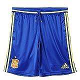 adidas Federación Española de Fútbol TRG SHO 2016 - Pantalón Corto, Color Azul/Amarillo, Talla L
