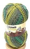 Ferner Wolle Lungauer Sockenwolle 4-fädig mit Baumwolle, 57prozent Schurwolle; 25prozent Baumwolle;mulesingfrei mit Farbverlauf 18prozent Polyamid (406-20)