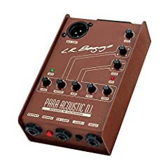 """Adjustable Gain for Both Passive and Active Pickups 5 Band EQ with Tuneable Notch and Midrange Bands Phase Inversion for Best Sound and Feedback Control XLR and 1/4"""" Outputs Works with 9V Battery or 48V Phantom Power"""