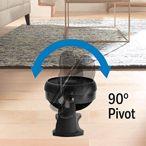 """Honeywell HT900C TurboForce® 7"""" Power Air Circulator, Black, with 90 Degree Head Pivot, Eco-Friendly, and Easy to Use Fan"""